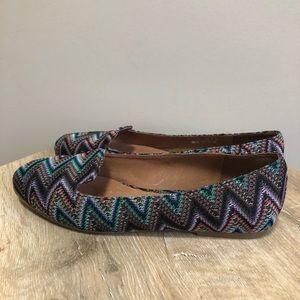 Jeffrey Campbell Shoes - Jeffrey Campbell Zig Zag Multi Coloured Flats 6.5